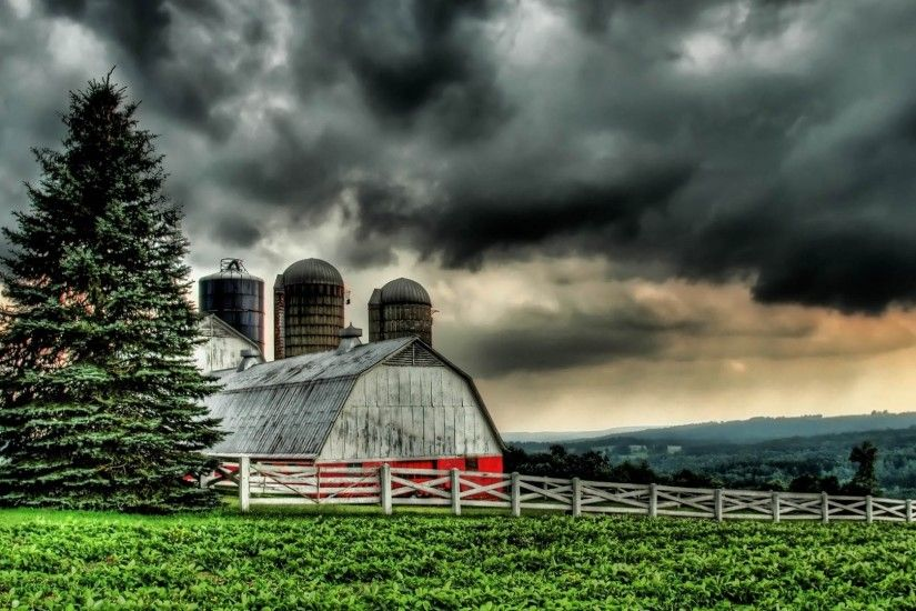1920x1080 Wallpaper building, village, grass, nature, hdr, rain