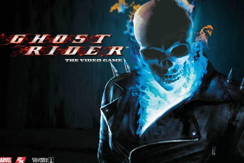 Blue Flame Skull - Superhero Games Wallpaper Image featuring Ghost .