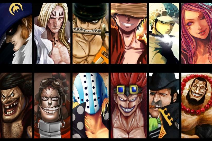 anime, One Piece, Trafalgar Law, Monkey D. Luffy, Roronoa Zoro, Marshall D.  Teach Wallpaper HD