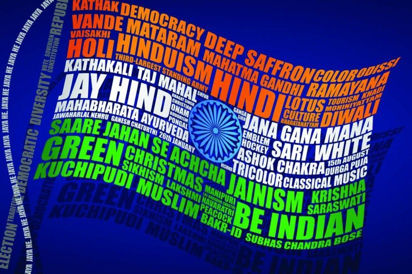 Indian Flag Wallpaper Animation for India Independence Day with Quotes