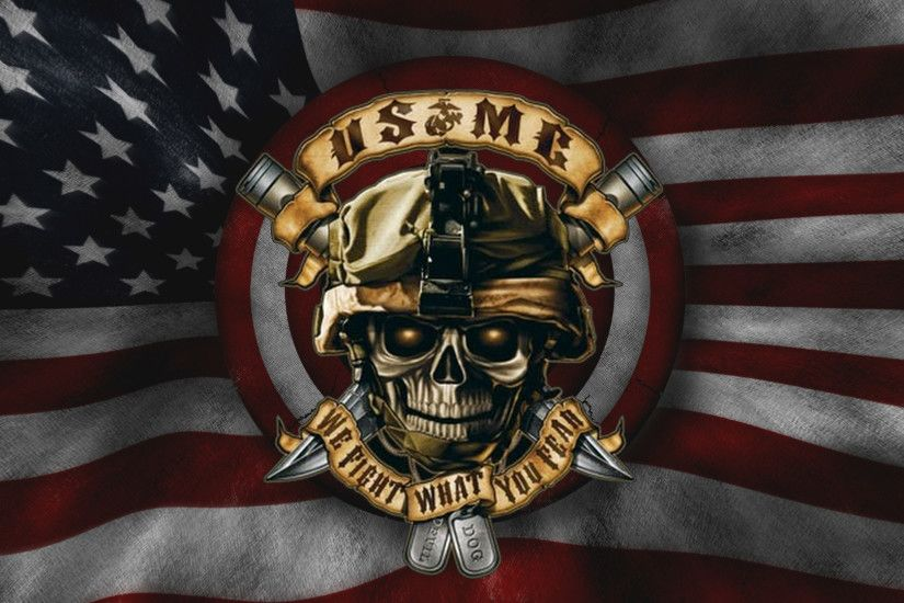 Holiday - 4th Of July Marines Devil Dog American Wallpaper