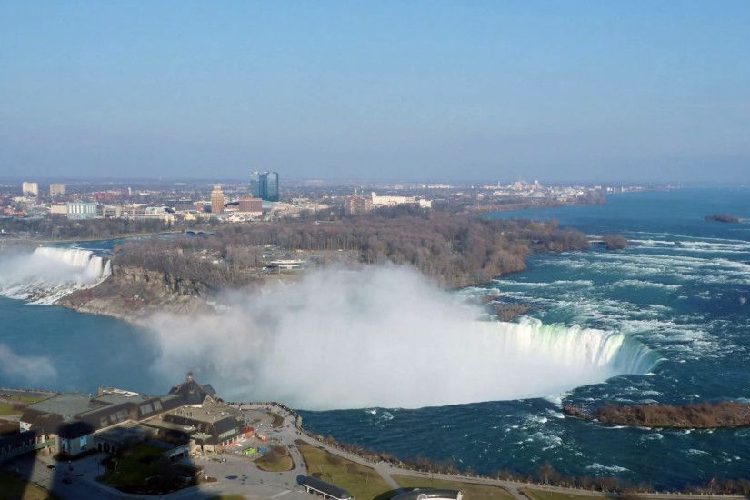 Niagara Falls Roaring Waters with Blue Skies Aerial Time Lapse, 4K Stock  Video Footage - VideoBlocks