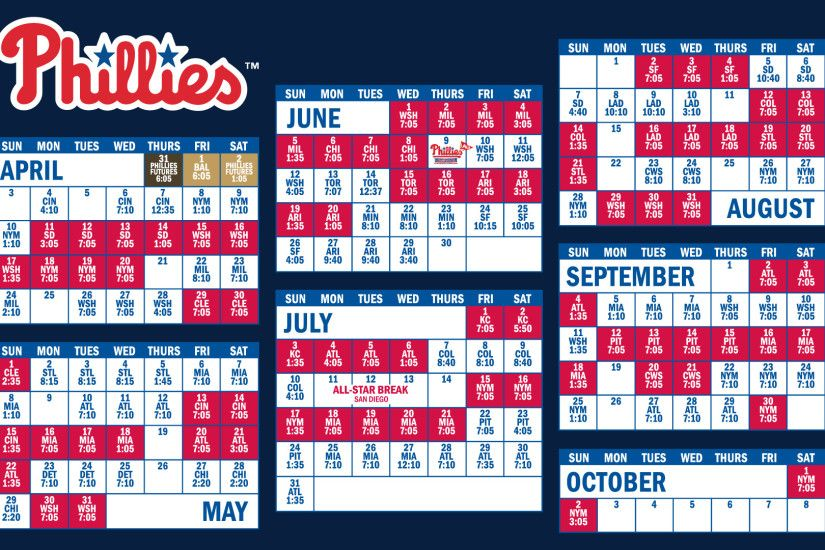 My husband requested a simple Phillies Schedule desktop wallpaper, if  anyone else wants to use it, feel free!