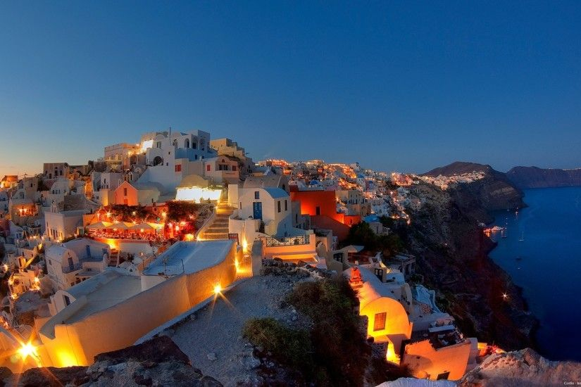 greece summer santorini night wallpaper background -  http://69hdwallpapers.com/greece