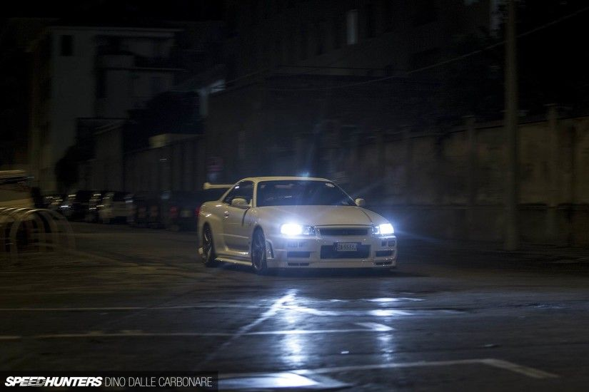 Nissan Skyline R34 GTR V black car, night wallpaper | cars | Wallpaper  Better Nissan