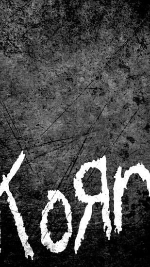 Preview wallpaper korn, name, font, background, scratches 1080x1920