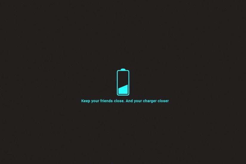 Battery Black Background Charger Dark Friends Funny Minimalistic Neon Blue  Philosophy Simple