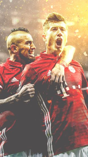 Robert Lewandowski-Arturo Vidal Mobile Wallpaper