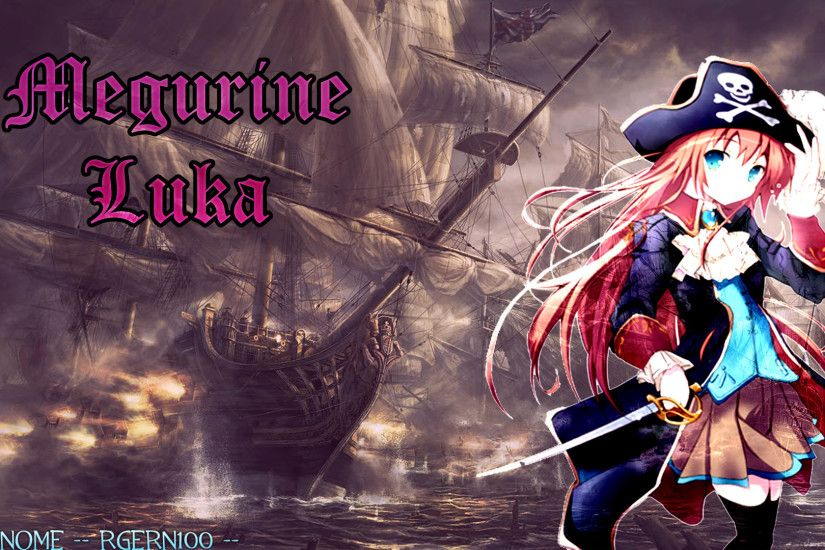 Megurine Luka Pirate Wallpaper by Rgern100 Megurine Luka Pirate Wallpaper  by Rgern100