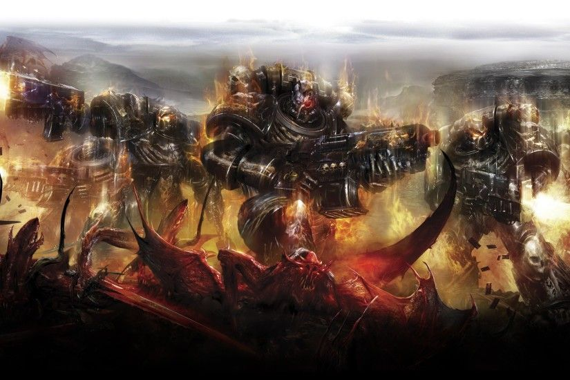 Warhammer 40000, Space Marines, Demon, Legion Of The Damned Wallpapers HD /  Desktop and Mobile Backgrounds