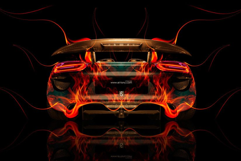... Porsche 918 Back Fire Abstract Car 2014