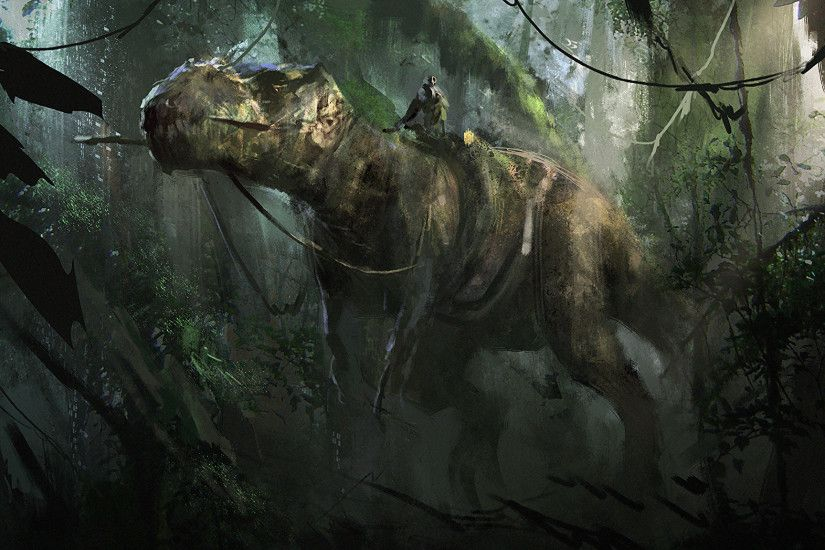 Wallpapers Tyrannosaurus rex Dinosaurs T-Rex Animals 2048x1152