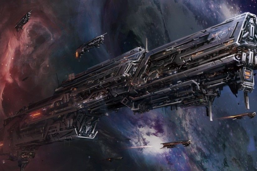 spaceship, Space, Artwork, Fantasy Art Wallpapers HD / Desktop and Mobile  Backgrounds