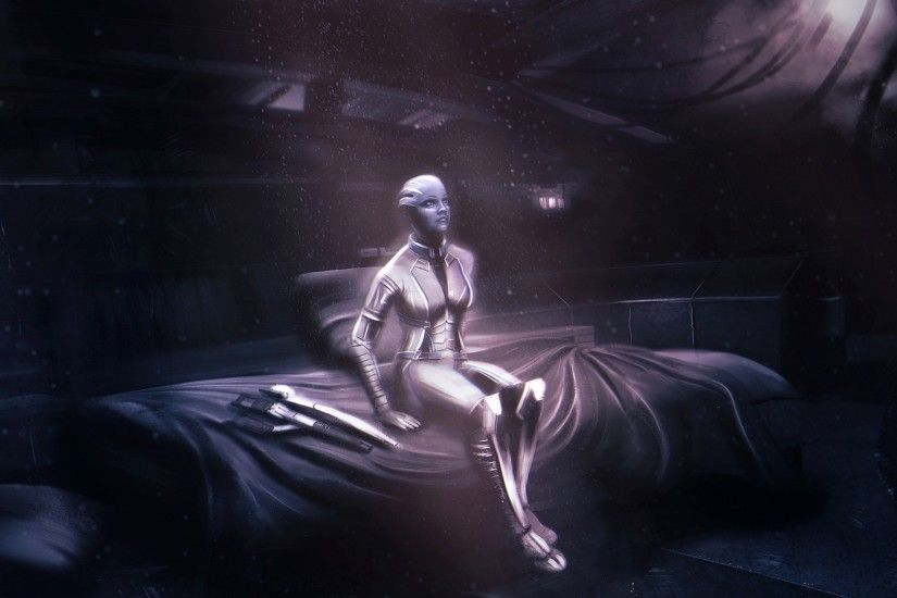 Preview wallpaper mass effect, asari, character 3840x2160