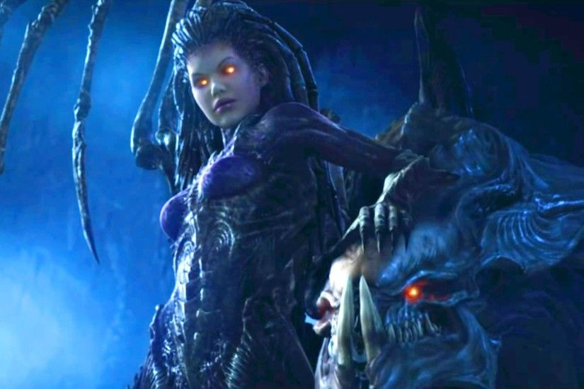 Zeratul vs Kerrigan. Protoss and Zerg Queen in Temple (Starcraft 2 |  Cinematic Trailer 16:9) - YouTube