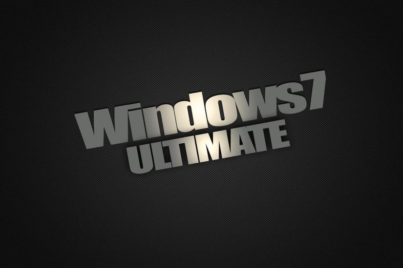 Windows 7 Dark Edition Ultimate Wallpaper HD | High Definition .