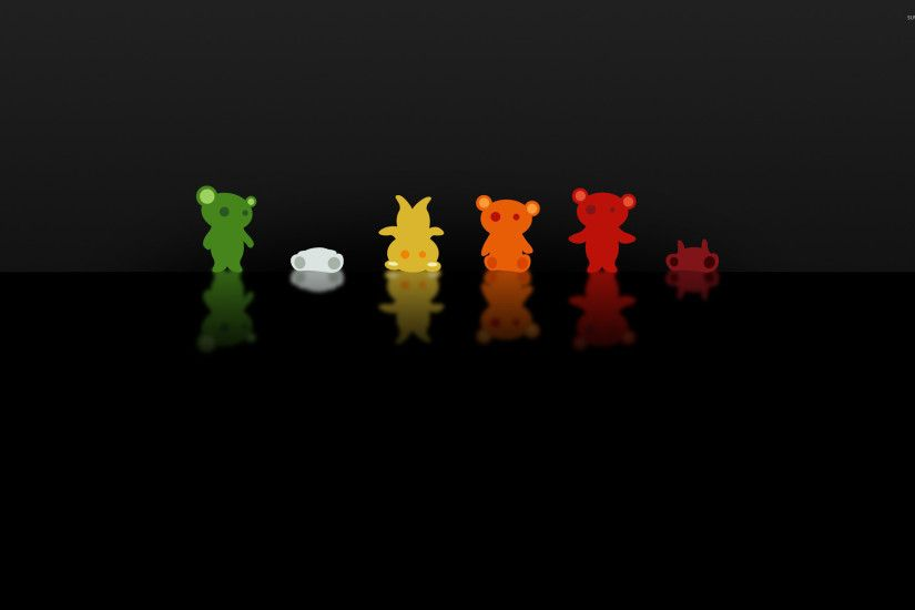 Colorful gummy bears wallpaper