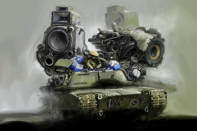 Military - Sci Fi Vehicle Tank Dubstep Music Wallpaper
