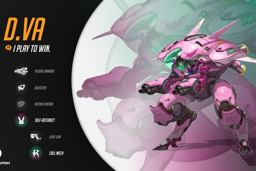... D.Va Full HD Wallpaper and Background | 1920x1080 | ID:705926 ...