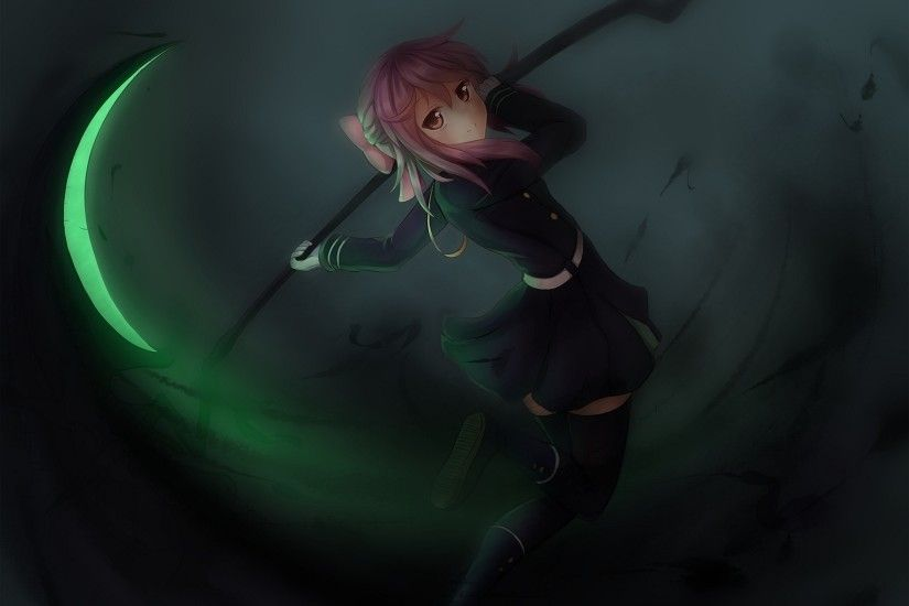 Onamae Kun Owari No Seraph Hiiragi Shinoa Girl Art Inspired Anime Wallpaper  Free