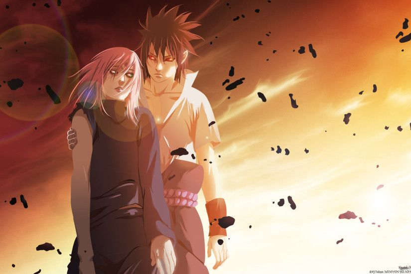 Tags: Anime, NARUTO, Uchiha Sasuke, Haruno Sakura, Wallpaper, HD Wallpaper