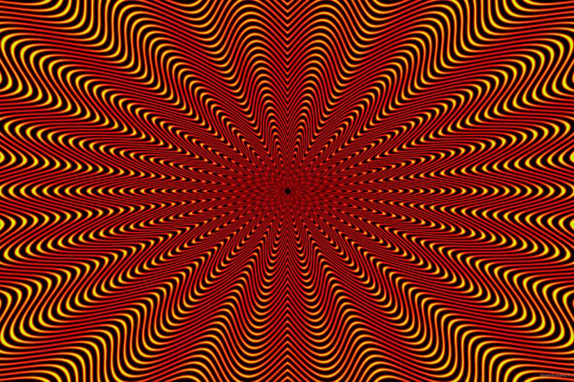 HD Red and Yellow Optical Illusion Wallpaper wallpaper