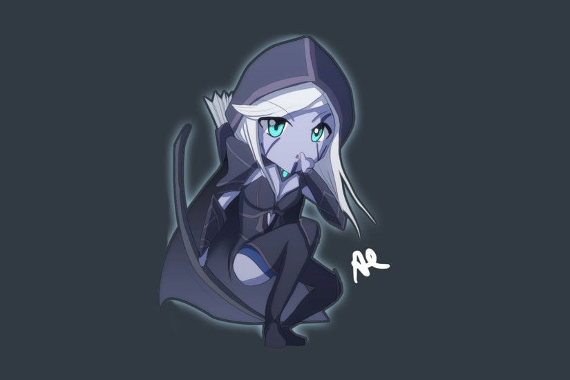 traxex drow ranger dota 2 girl game hd wallpaper