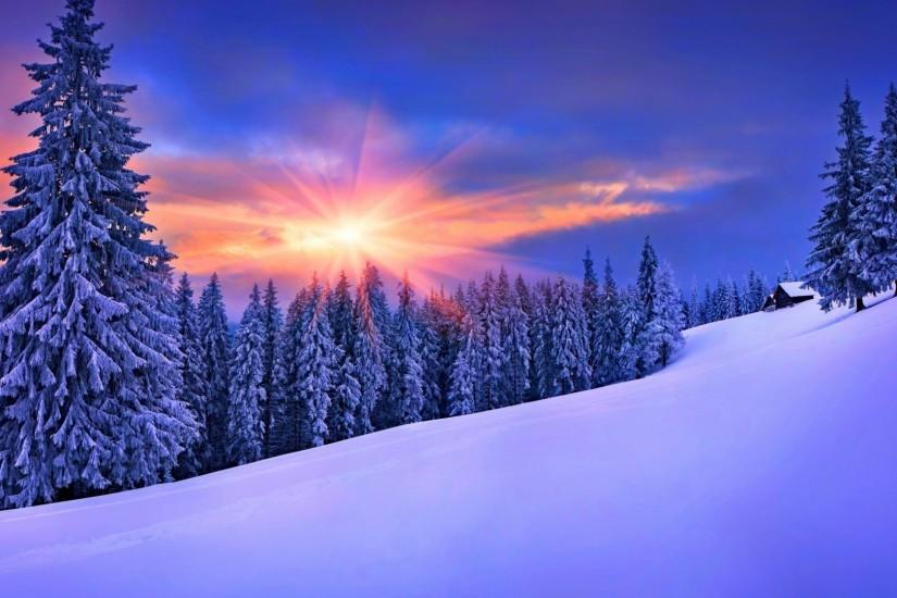 nature, Winter, Landscape, Snow