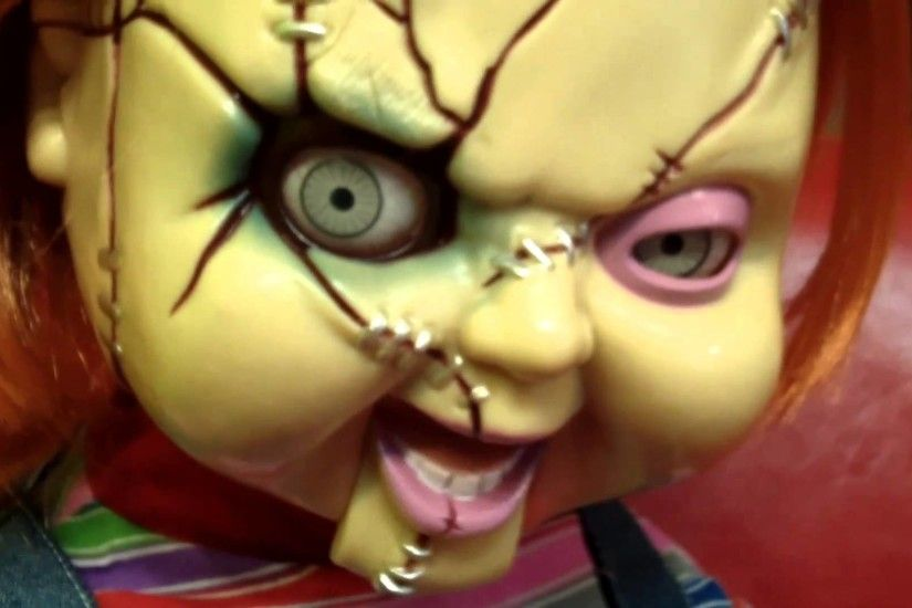 Chucky SCARY Animated Life-Size Talking Doll by Mike Mozart of  TheToyChannel - YouTube