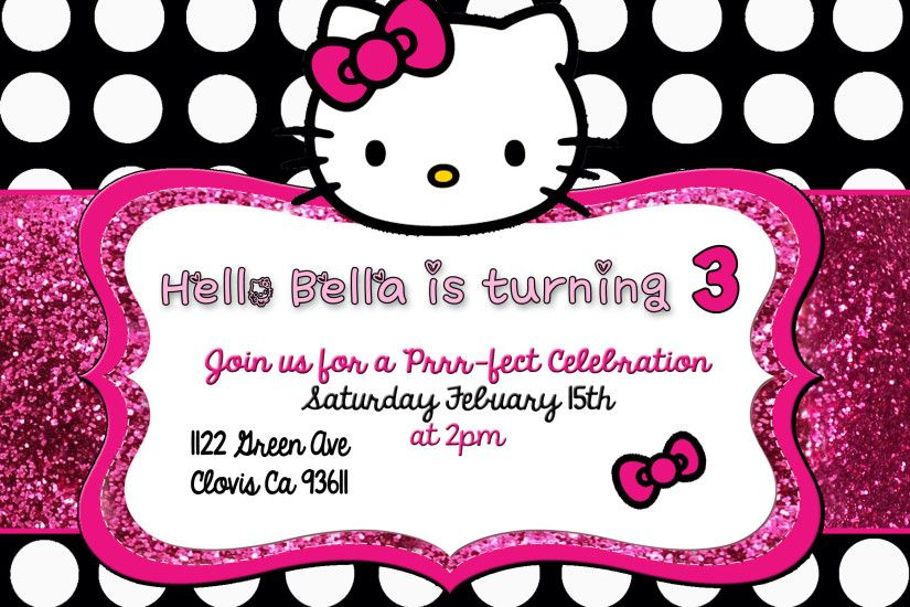 Hello Kitty With Black Background Wallpapertag