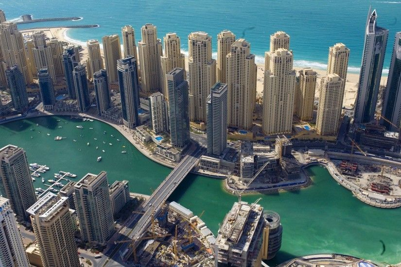 Dubai Marina HD wallpaper