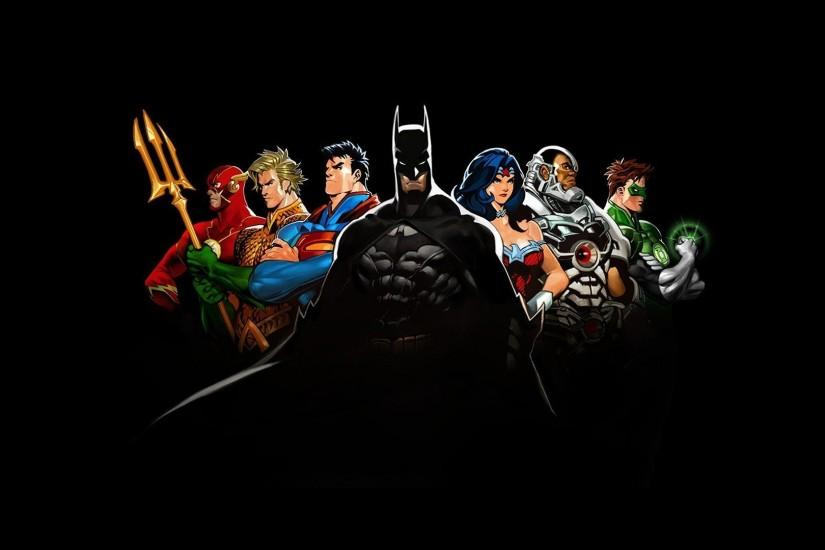 Comics DC Justice League The Flash Batman Superman Wonder Woman Cyborg  Green Lantern Aquaman Wallpaper ...