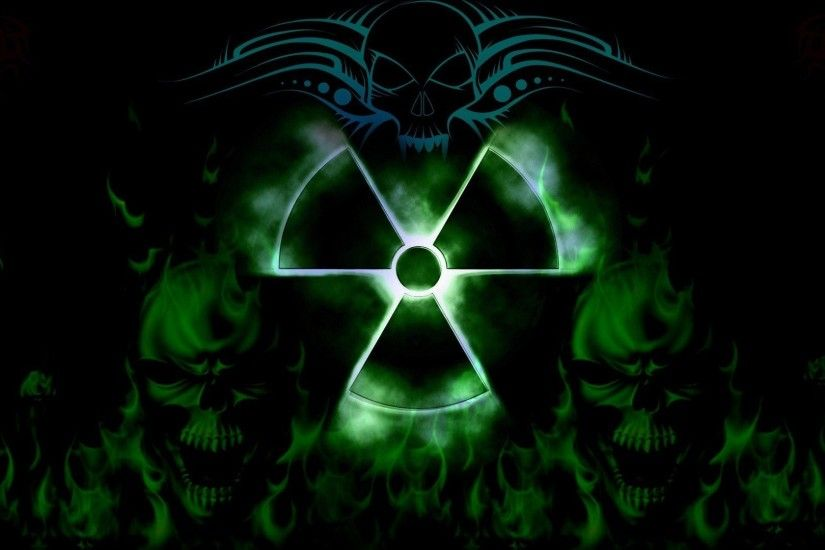 Toxic Sign And Skulls Wallpaper