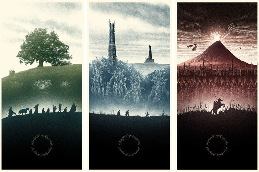 I have a similar Lord of the Rings picture as my desktop background.