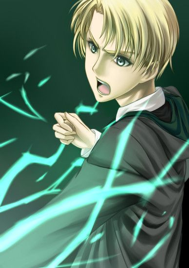 Tags: Anime, Harry Potter, Draco Malfoy, Pixiv, Mobile Wallpaper, Slytherin