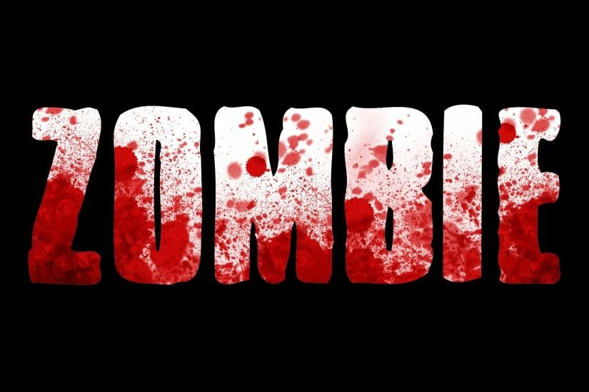 Zombie Text Desktop Wallpaper 52283