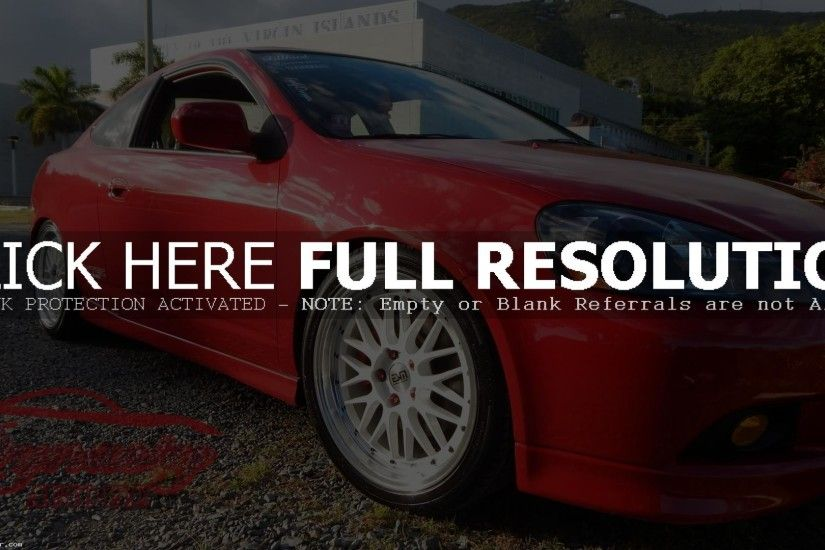 Red Acura RSX Type S Wallpaper