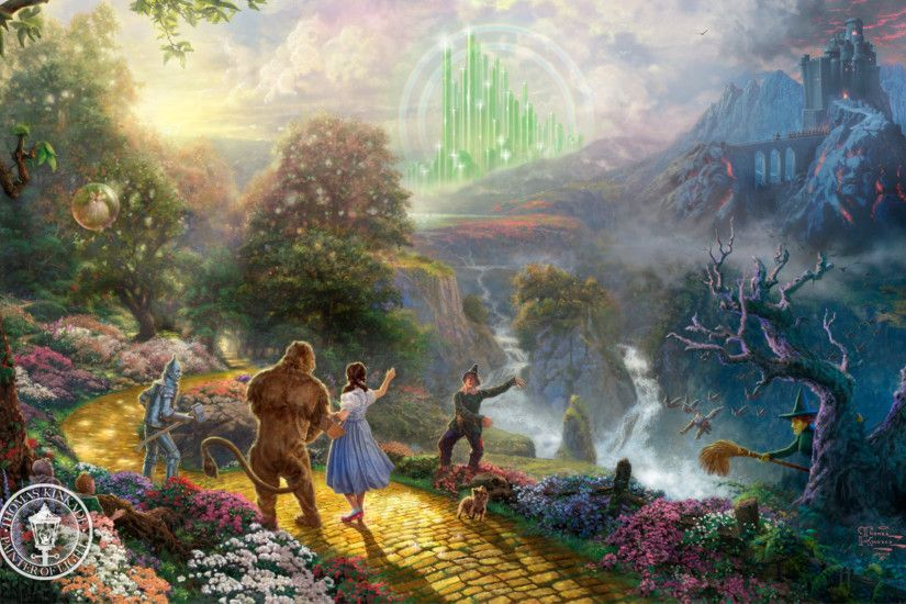 The Wizard Of Oz, Thomas Kinkade, Film, Fantasy, Painting, Dorothy Discovers
