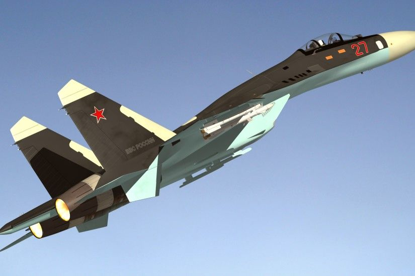Wallpapers Sukhoi Su-27 Fighter Airplane Airplane Russian 3D Graphics  Aviation 3840x2160 Fighter aircraft