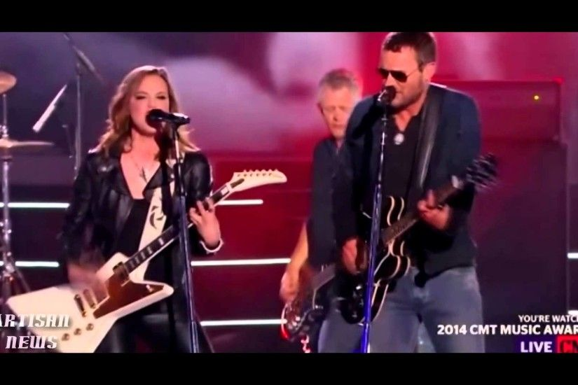 HALESTORM LZZY HALE WOWS CMT AWARDS AUDIENCE WITH ERIC CHURCH