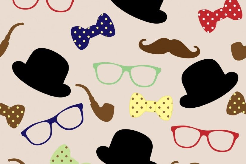 Disguise For Man Clipart Moustache Seamless Wallpaper Design ...
