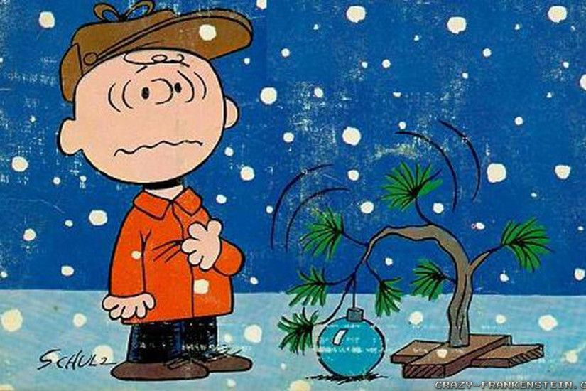 Wallpaper: Charlie Brown Christmas tree cartoon. Resolution: 1024x768 |  1280x1024 | 1600x1200.