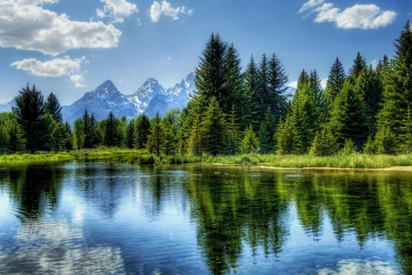 Peaceful Lake Wallpaper Landscape Nature Wallpapers
