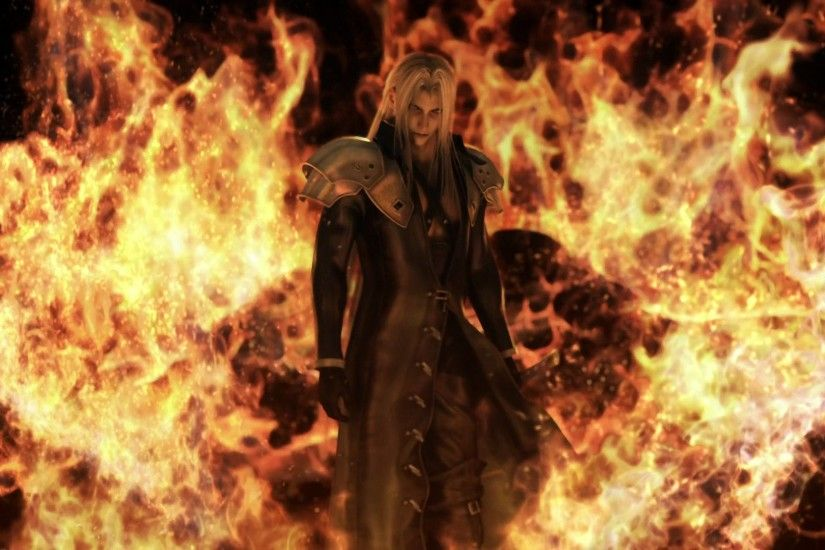 Movie - Final Fantasy VII: Advent Children Sephiroth (Final Fantasy) Fire  Wallpaper