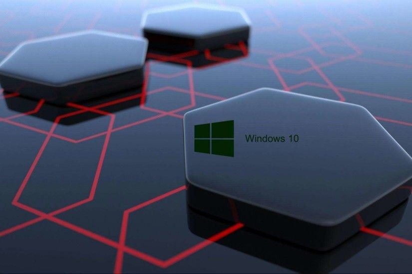 high definition 3D Windows 10 hi tech wallpaper