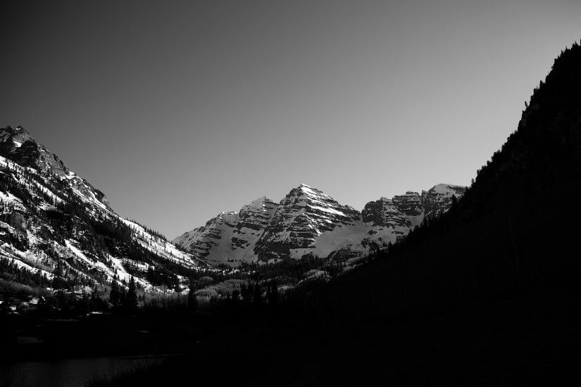 http://eskipaper.com/images/monochrome-forest-mountains-scenery-1.jpg |  Nature | Pinterest | Mountain wallpaper, Mountain background and Mountains