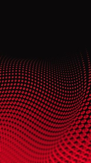 Wallpaper Full Hd 1080 X 1920 Smartphone Red Wave 3d Abstract .