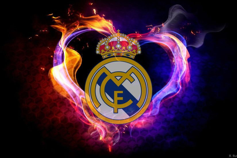 Real Madrid wallpaper with fire