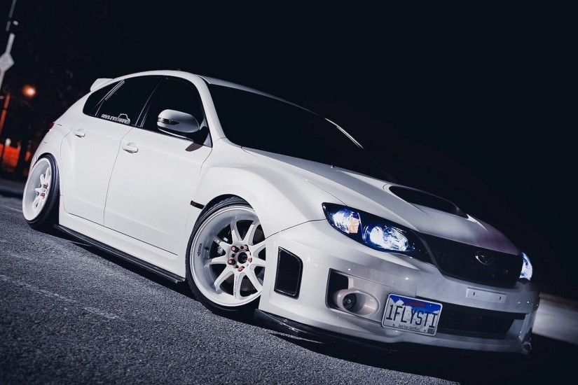 white, Subaru, Tuner Car, Stance Wallpapers HD / Desktop and Mobile  Backgrounds