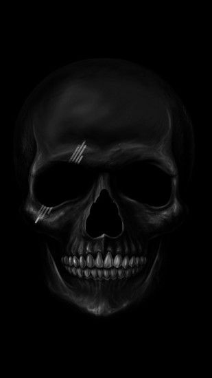 1080x1920 Wallpaper skull, art, teeth, bones